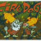 Ren and Stimpy 1993 #5 Sticker Puzzle Trading Card Fire Dogs