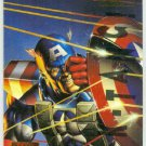 Marvel Masterpieces 1995 Emotion #16 Gold Foil Card Captain America