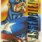 Marvel Masterpieces 1995 Emotion #18 Gold Foil Card Captain America