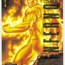 Marvel Masterpieces 1995 Emotion #45 Gold Foil Card Human Torch