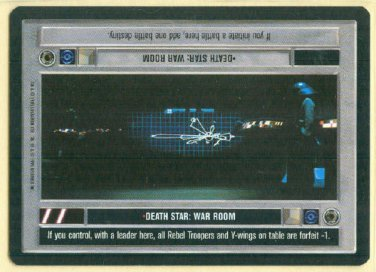Star Wars CCG Death Star War Room Uncommon Game Card