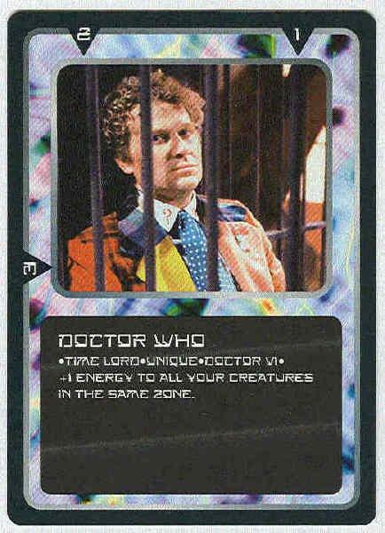 Doctor Who CCG Doctor Who VI Rare Game Card Colin Baker
