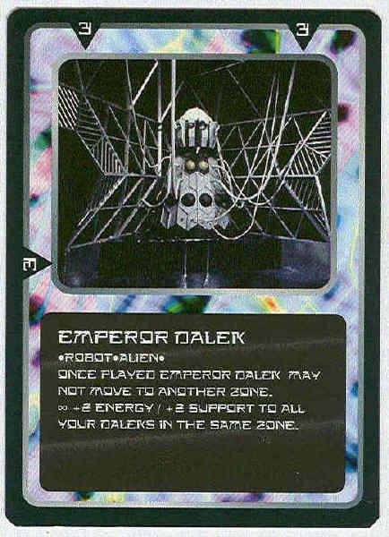 Doctor Who CCG Emperor Dalek Rare Game Trading Card