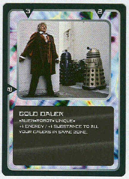 Doctor Who CCG Gold Dalek Rare Black Border Game Card