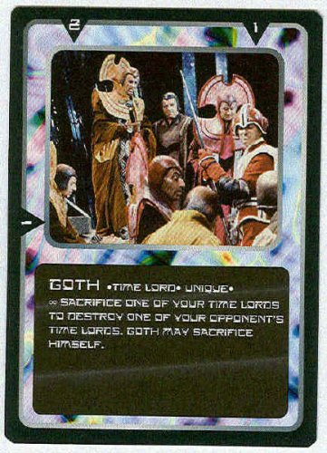 Doctor Who CCG Goth Rare Black Border Game Trading Card