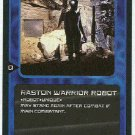 Doctor Who CCG Raston Warrior Robot Rare Game Card