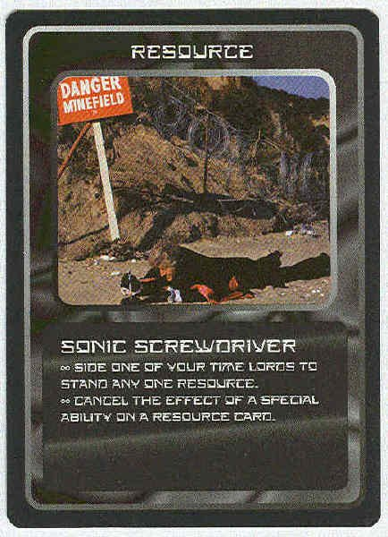 Doctor Who CCG Sonic Screwdriver Rare Game Trading Card