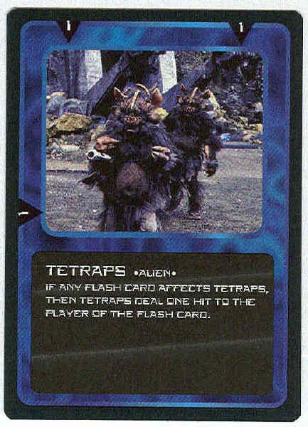 Doctor Who CCG Tetraps Rare Black Border Game Card