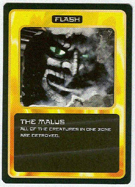 Doctor Who CCG The Malus Rare Black Border Game Card