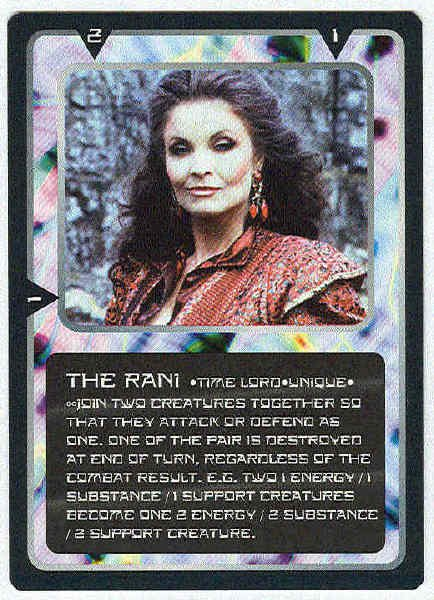 Doctor Who CCG The Rani Rare Game Card Kate O'Mara