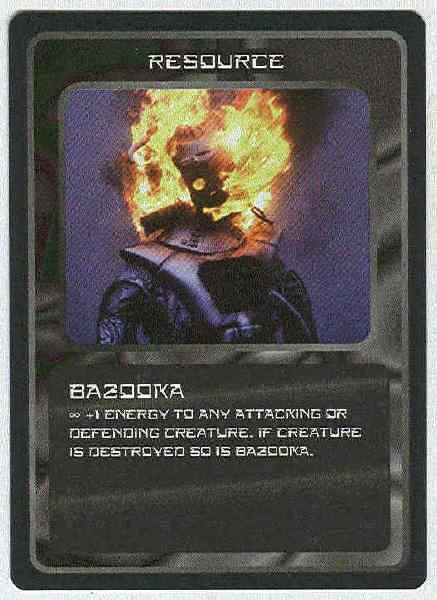 Doctor Who CCG Bazooka Black Border Game Trading Card