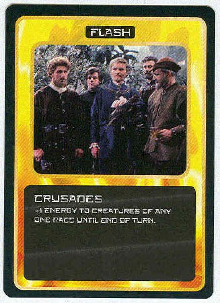 Doctor Who CCG Crusades Black Border Game Trading Card