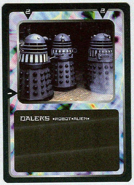 Doctor Who CCG Daleks Black Border Game Trading Card
