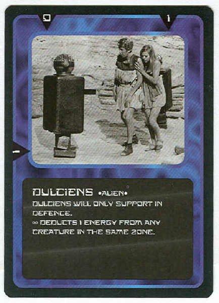Doctor Who CCG Dulciens Black Border Game Trading Card