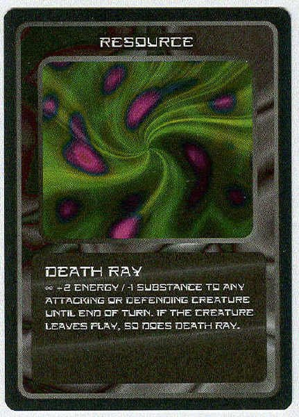 Doctor Who CCG Death Ray Black Border Game Trading Card
