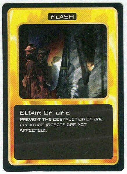 Doctor Who CCG Elixir Of Life Black Border Game Trading Card