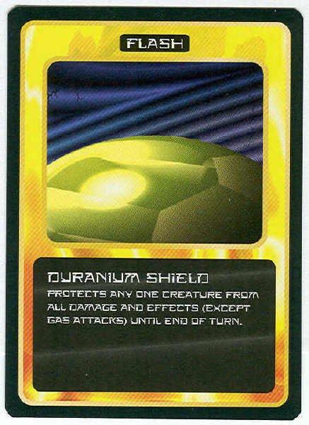 Doctor Who CCG Duranium Shield Black Border Game Card