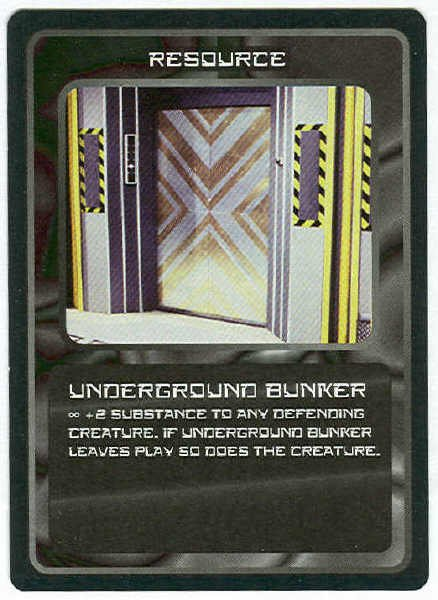 Doctor Who CCG Underground Bunker Game Trading Card