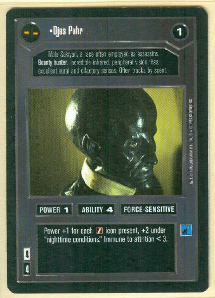 Star Wars CCG Djas Puhr Premiere Limited Rare Game Card