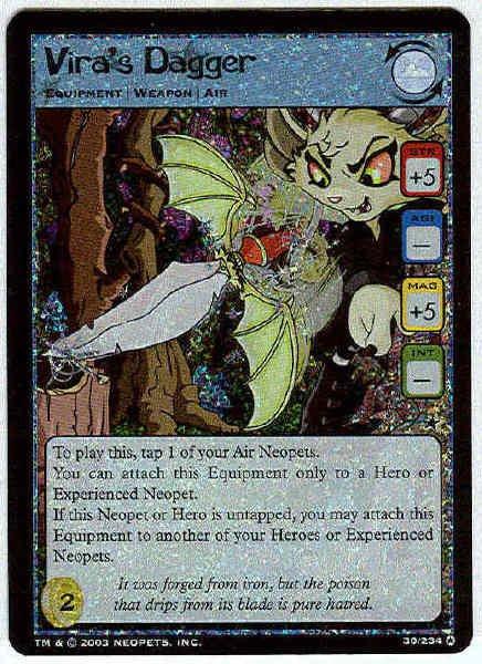 Neopets CCG Base Set #30 Vira's Dagger Holo Foil Card
