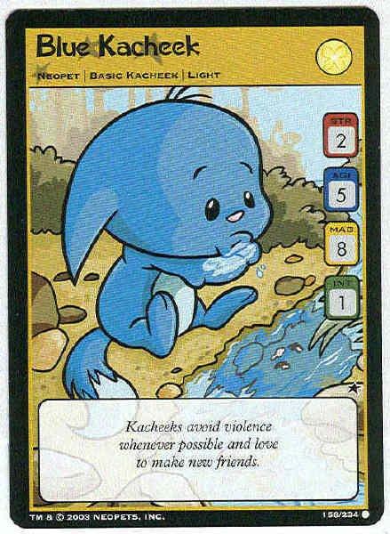 Neopets CCG Base Set #158 Blue Kacheek Game Card