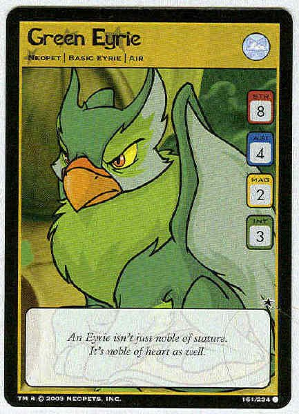 Neopets CCG Base Set #161 Green Eyrie Game Card