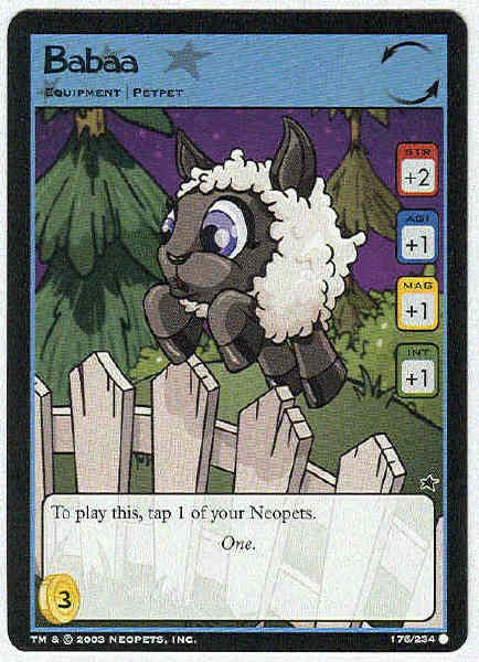 Neopets CCG Base Set #176 Babaa Game Card