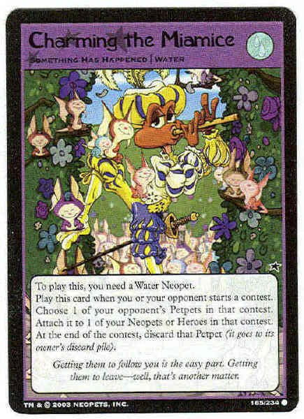 Neopets CCG Base Set #185 Charming The Miamice Card