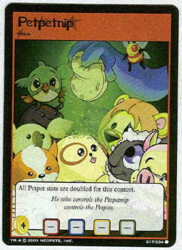 Neopets CCG Base Set #217 Petpetnip Game Card