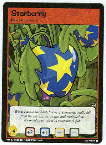 Neopets CCG Base Set #227 Starberry Game Card