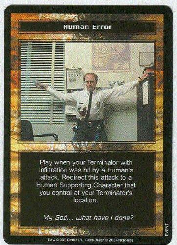 Terminator CCG Human Error Precedence Rare Game Card
