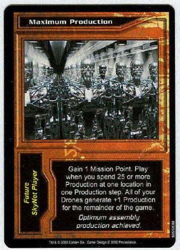 Terminator CCG Maximum Production Rare Game Card