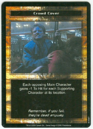 Terminator CCG Crowd Cover Precedence Game Card