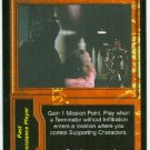 Terminator CCG Preach The Future Precedence Game Card