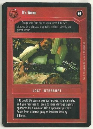 Star Wars CCG It's Worse Premiere Limited Game Card