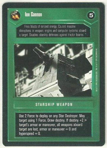 Star Wars CCG Ion Cannon Premiere Limited Uncommon Game Card
