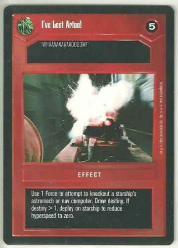 Star Wars CCG I've Lost Artoo Premiere Limited Uncommon Game Card