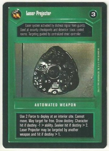 Star Wars CCG Laser Projector Premiere Limited Uncommon Game Card