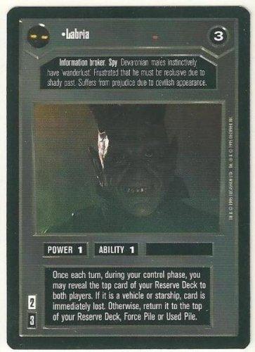 Star Wars CCG Labria Premiere Limited Rare Game Card