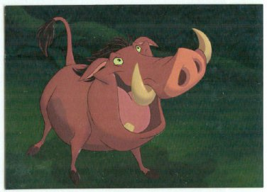 Lion King 1994 Series 1 #F7 Foil Chase Card Pumbaa