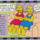 Simpsons 1994 #7 Smell-A-Rama Trading Card Patty and Selma