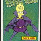 Simpsons 1994 Radioactive Man #R7 Hypno Head Card