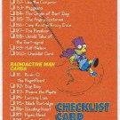 Simpsons 1994 Bartman #B10 Chase Card Checklist Card