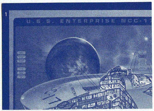 Star Trek 30th Anniversary Phase 3 Blueprint #1 Trading Card