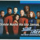 Star Trek TNG #O1B Spanish Language Trading Card