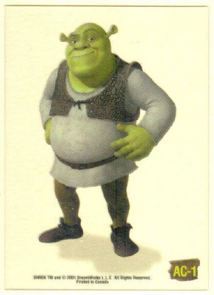 Shrek Animation Cel AC-1 Shrek Chase Trading Card