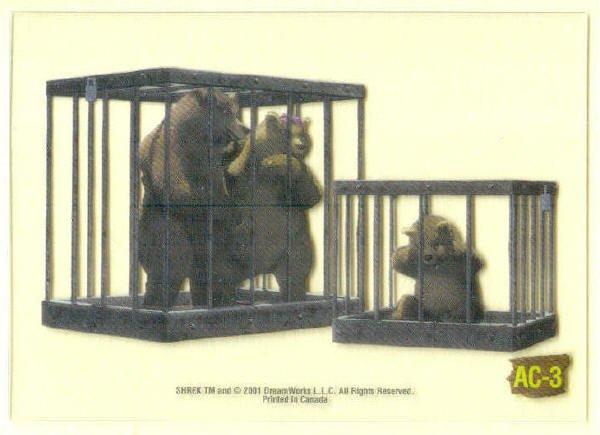 Shrek Animation Cel AC-3 Three Bears Chase Trading Card