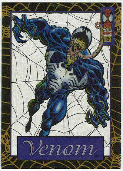 Spider-Man Amazing Cel #4 Venom Chase Trading Card