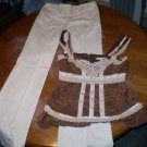 Nanette Lepore Wide Leg Sailor style pants with Empire Waist Blouse
