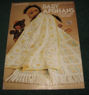 Baby Afghans to knit and Crochet Leaflet 64 Leisure Arts